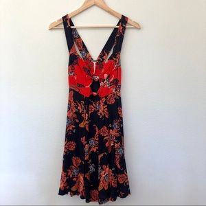 Free People Dresses - Free People open back Autumn dress tunic Navy XS